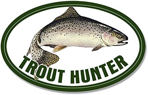 Fishing Fish Rainbow Fisher Lure American Vinyl Oval Trout Hunter Sticker