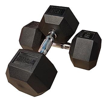 freedomstrength® Hex mancuernas hexagonales de caucho revestido Ergo Pesos 5 kg-50kg: Amazon.es: Deportes y aire libre