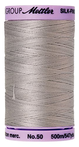 Mettler Silk-Finish Solid Cotton Thread, 547 yd/500m, Ash Mist