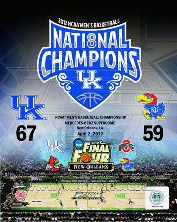 University Kentucky 2012 NCAA Mens Basketball National Champions Composite 8x10