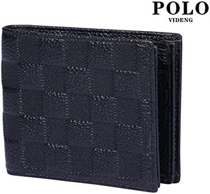 VIDENG POLO WL20 RFID Blocking Business Top Genuine Leather Wallet for Men