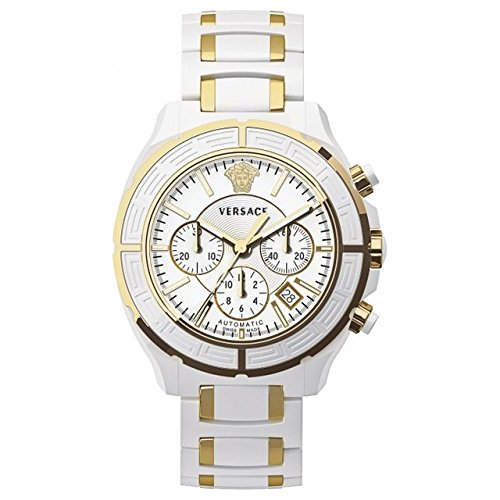 Versace Women's 16CCP1D001 SC01 DV One Gold-Plated White Ceramic Chronograph Watch