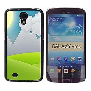 LECELL -- Funda protectora / Cubierta / Piel For Samsung Galaxy Mega 6.3 I9200 SGH-i527 -- Minimalist Grass Valley --