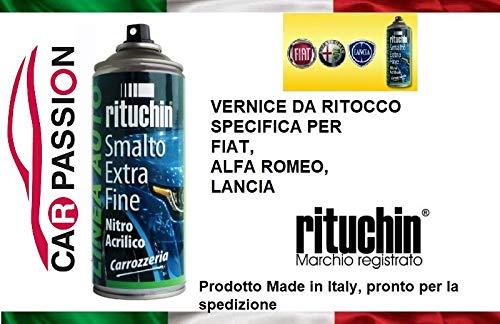 car passion Kit Vernice RITOCCO 390/B 390B Verde Toscana Metallizzato Fiat Alfa Romeo Lancia Jeep VERNICIATURA CARROZZERIA Auto BOMBOLETTA Spray 200ml CARPASSION