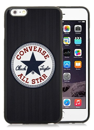 converse allstar logo Black Phone Case for 6S Plus Plus 5.5 Inch,iPhone 6 Plus TPU Case (Converse Collection All Star)
