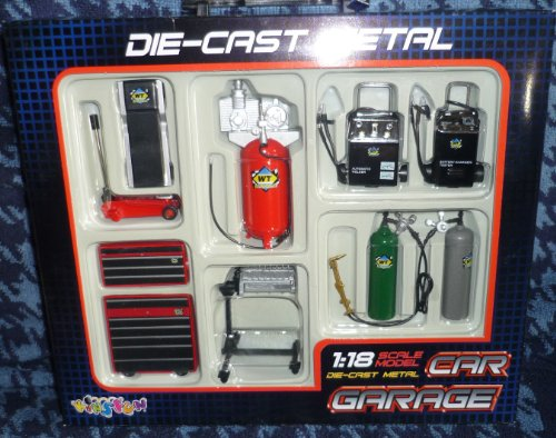 Amazon.com: Die-cast Metal Car Garage Accessories 1:18 Scale by ...