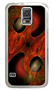Samsung Galaxy S5 Red Abstract Art Design PC Custom Samsung Galaxy S5 Case Cover Transparent