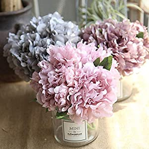 GSD2FF 5PCS Peony Silk Flower for Wedding Decor Artificial Flower Peonies Bouquet Home Decorative Flower 16
