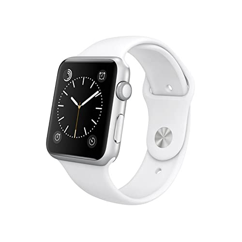 Apple Watch WiFi 38mm Aluminum Case - White Sport Band (Refurbished)