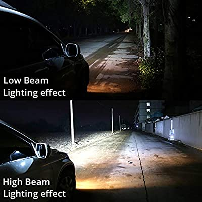 H11 Led Headlight Bulbs 72W 8000LM, H9 H8 All-in-One Head-Lamps Conversion Kits 6000K-Waterproof-Extremely Bright(2-Pack): Automotive