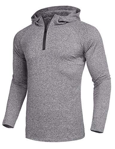 Sleeve Performance Mock Turtleneck - COOFANDY Men Sports Pullover Basic Mock Turtle Neck Casual Sweatshirt Spring