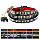 "Nilight TR-04 Truck Tailgate Bar 60"" Triple Row 504 LED Strip with Red"
