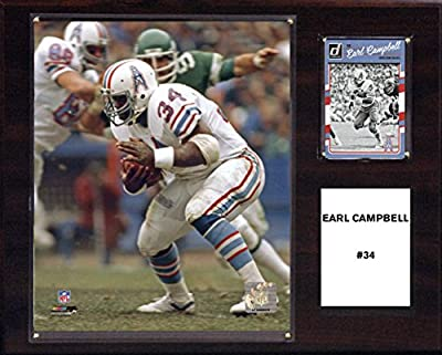 NFL Houston Oilers Men's Earl Campbell Carolina Panthers Player Plaque, Brown