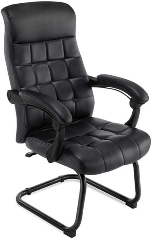 LEOO Silla articulada ergonomica de Cuero para Oficina en Color Negro (Color : Negro, Tamaño : 106 * 61cm)