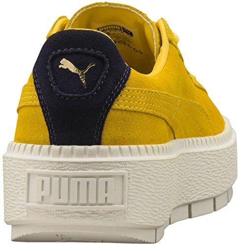 Puma Dame Ruskind Platform Spor Fed Citron / Aften Blå nBsDVY