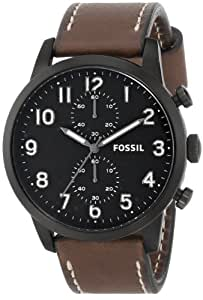 "Fossil Men's FS4874 ""Townsman"" Stainless Steel Watch with Leather Band"