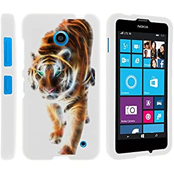 Nokia 635 Case, Lightweight Snap On Armor Hard Case with Cute Design Collage for Nokia Lumia 635 (AT&T, Sprint, T Mobile, Virgin Mobile, Boost Mobile, MetroPCS) from MINITURTLE | Includes Clear Screen Protector and Stylus Pen - Blazing Tiger