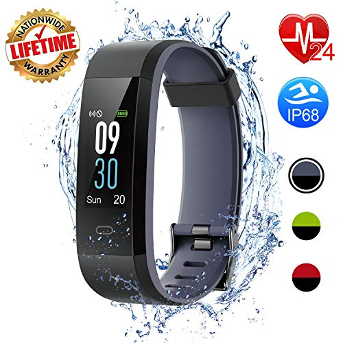 I-SWIM Fitness Tracker, Activity Tracker Watch with Heart Rate Monitor, Sleep Monitor,Calorie Counter, IP68 Waterproof Smart Fitness Band with Step Counter, Pedometer Watch