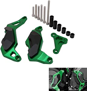 Engine Guard Case Cover Crash Pad Frame Slider Protector Motorcycle For Kawasaki Ninja 400 2017-2018 - Green