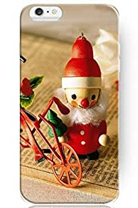 """ZLXUSA(TM) New Personalized Hard Santa Claus and Bike for Apple 6 Plus (5.5"""") iPhone Case Holiday Gift"""