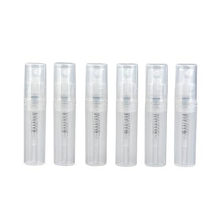 Furnido 20 pcs 2 ml/3ml Mini plástico Botella de Spray Transparente atomizador de Perfume