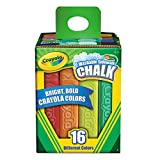Washable Sidewalk Chalk, 16 Assorted Colors, Total 2 Sets