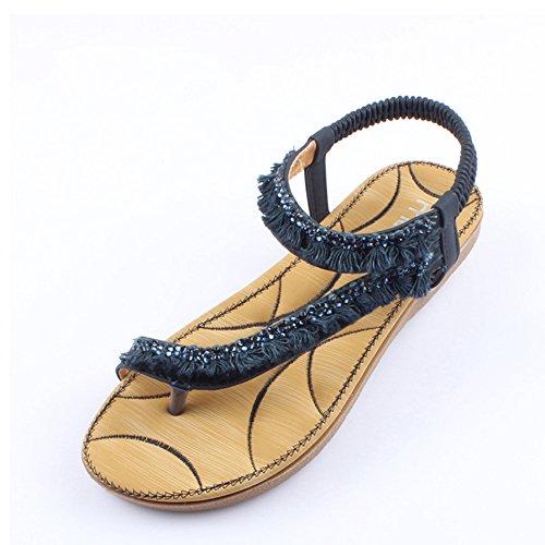 Les À Air Eu40 Semelles D'été Femmes Femmes Plat Pantoufles couleur Pour Uk7 En Haizhen Des Plein 1001 Légères Décontracté Sandales Cn41 Pied Talon Taille Femmes 1001 Chaussures OHgzaczn