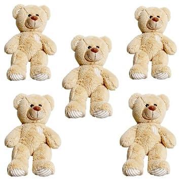 d638a31d8fe Splodge Teddy Parties - 5 x 10 quot  (25cm) Brown Cuddles Bears Party Pack