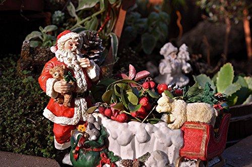 Laminated Poster Xmas Sleigh Christmas Santa Claus Sled Holiday Poster 24x16 Adhesive Decal ()