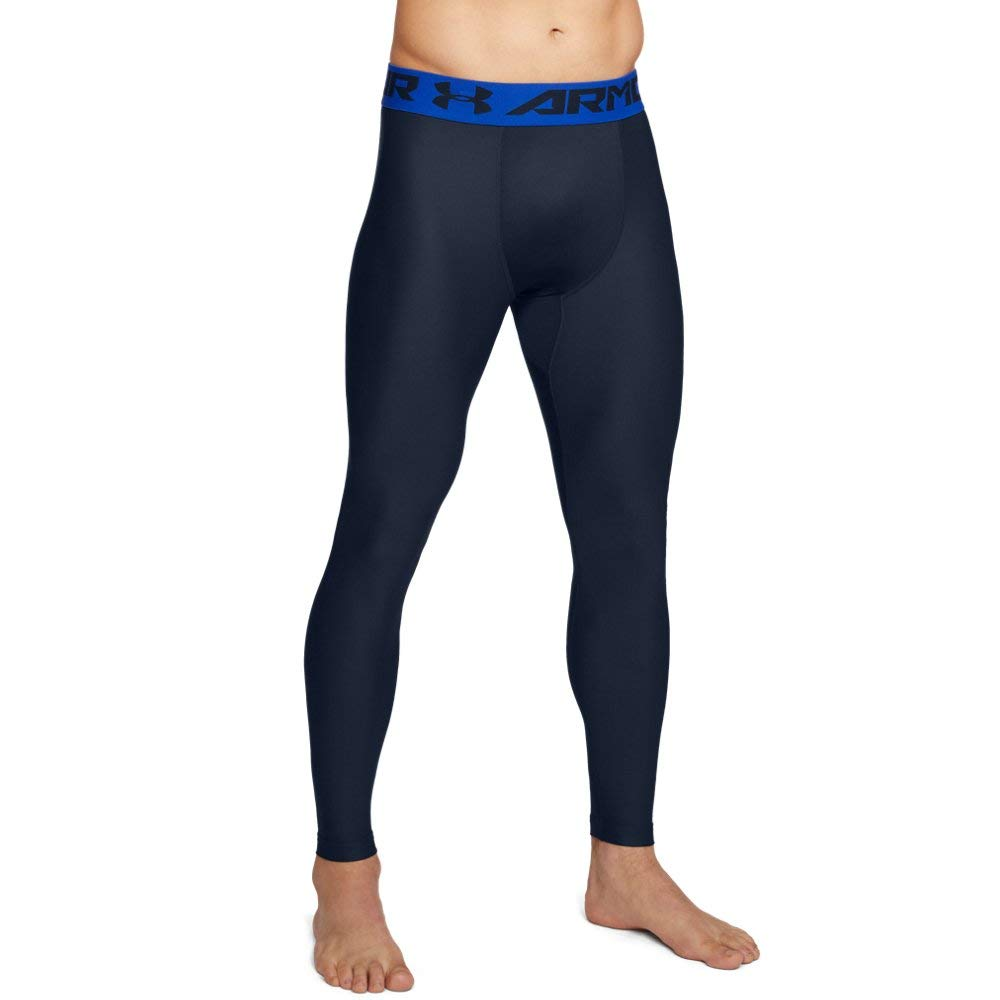 32bf3401f57f07 Galleon - Under Armour Men's Heatgear Armour Compression Leggings, Academy  (408)/Royal, Small