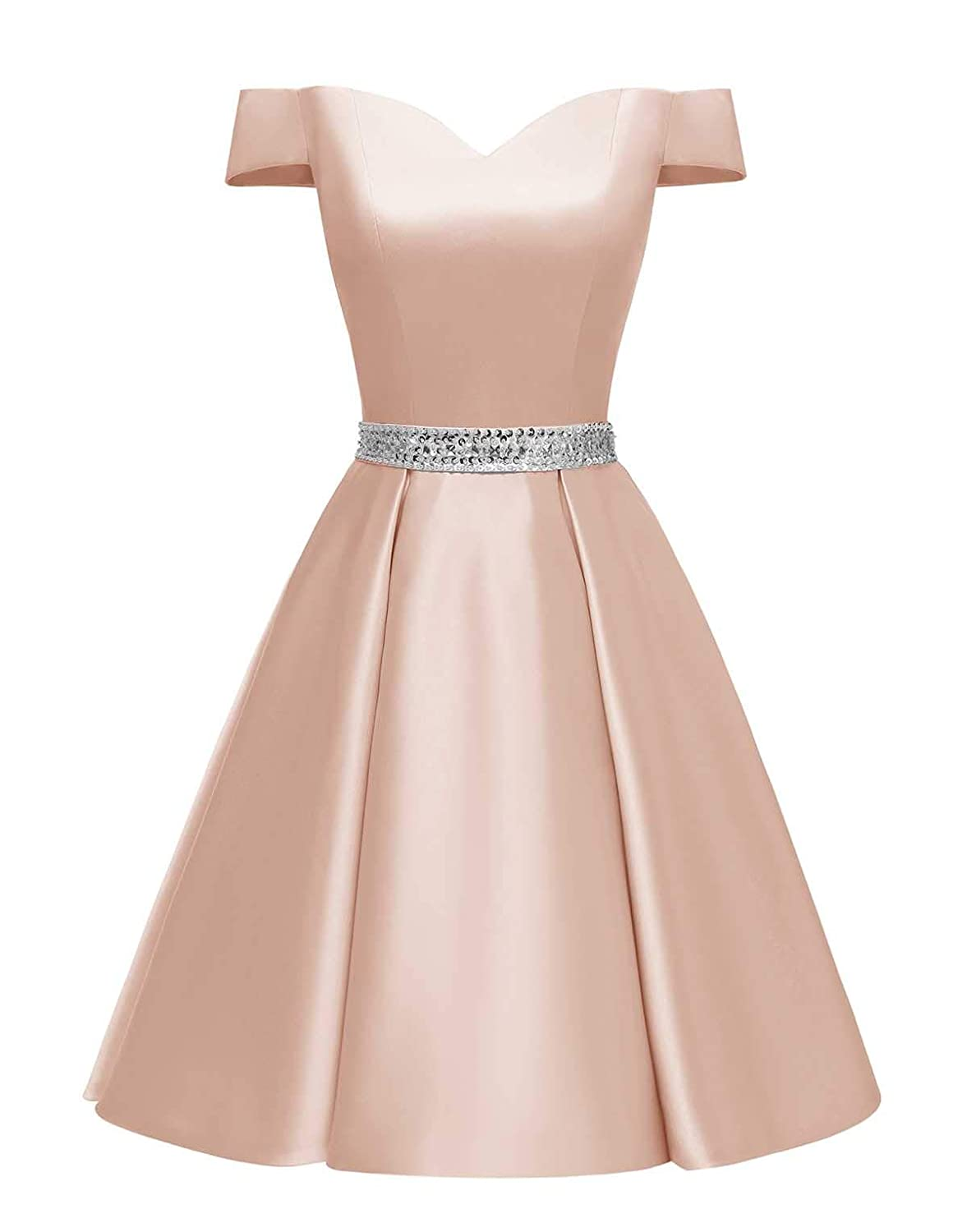 Changuan Women s Short Beaded Prom Dresses Off The Shoulder Backless Homecoming  Dress at Amazon Women s Clothing store  b713d9141