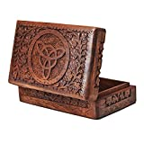 Handmade Mothers Day Gift Ideas Decorative Wooden Jewelry Box Keepsake Storage Watch Box Floral Carvings 7 x 5 Inches Birthday Housewarming Anniversary Gift Ideas For Women Her Girls