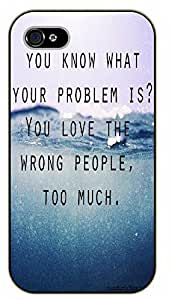 For Iphone 6 Plus 5.5 Inch Cover Don't let people get to you. They can't pull the trigger If you don't hand them the gun - black plastic case / Life quotes, inspirational and motivational / Surelock Authentic