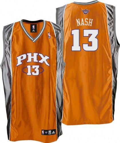 best website cc67e 5dc8d Amazon.com : Steve Nash Orange adidas NBA Authentic Phoenix ...