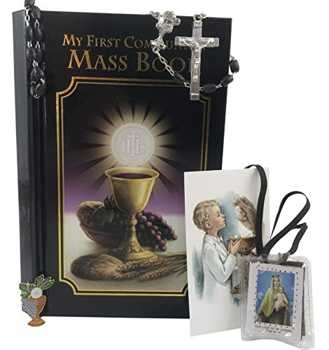 (Westman Works First Holy Communion Boys Set Pack with Missal and Rosary in a Vinyl Case)