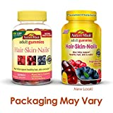 Nature Made Hair, Skin & Nails Adult Gummies w. 2500 mcg of Biotin Value Size