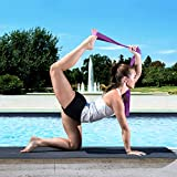 ProsourceFit Cinch Buckle Yoga Strap - Purple