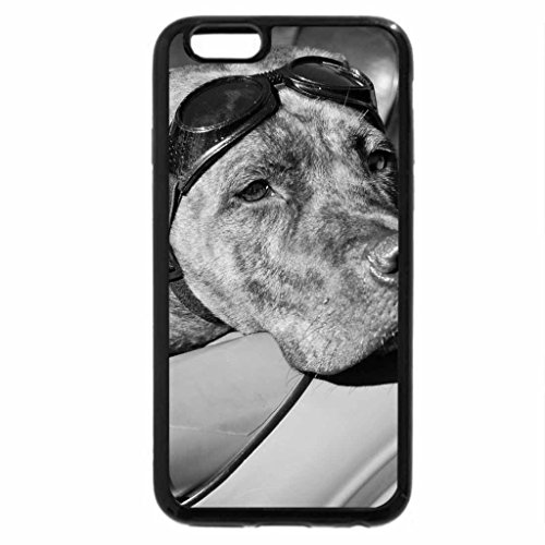 iPhone 6S Case, iPhone 6 Case (Black & White) - Motorized dog