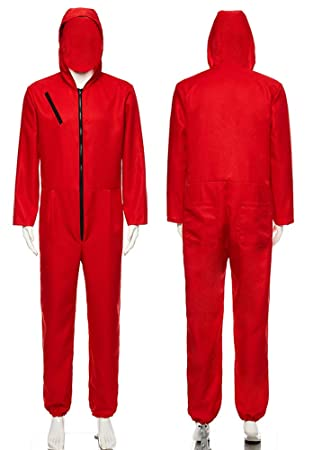 purchase cheap ded8d 5778d La Casa De Papel Kostüm Roter Overall Herren Arbeitsanzug ...