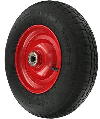 Goma Cilindro de rueda para carretilla, 4.00 – 8/100 x 400 mm eje