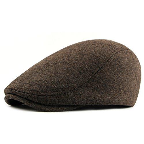 Beret Hat for Men Cotton Flat Cap Gatsby Newsboy Ivy Irish Hats Cabbie Driving, Beret Hat France ()
