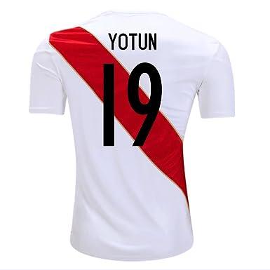 Amazon.com  Umbro YOTUN  19 Peru Home Men s Soccer Jersey World Cup ... 12dedfb70