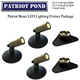 Patriot Brass LED Waterproof Pond and Landscape Lighting Fixture ONLY Kit PF-C1