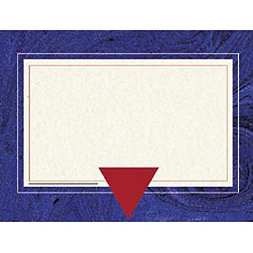 Hayes Replacement Blank Certificate with Borders, 8-1/2 X 11 in, Paper, Blue Marble, Pack of 50 by HAYES SCHOOL PUBLISHING