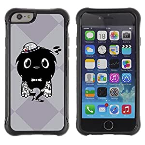 Hybrid Anti-Shock Defend Case for Apple iPhone 6 4.7 Inch / Cool Tattoo Monster wangjiang maoyi