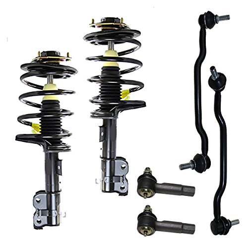 Detroit Axle - New 6-Piece Front Complete Struts & Coil Spring Set, Front Sway Bar Links & Outer Tie Rods for 2004 2005 2006 2007 2008 Nissan Maxima ()