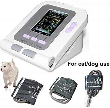 WANG Monitor de presión Arterial Digital Veterinaria NIBP Cuff, Perro/Gato/Mascotas (con 3 puños) Cuidado de Animales