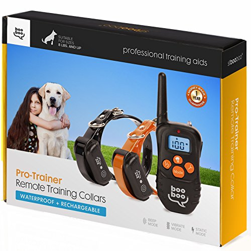 Remote Dog Training Collar for All Dog Sizes – Expertly Control Pet Behavior with BONUS training eBOOK – Rechargeable – Waterproof – 990 Feet Range by Sit Boo Boo Review