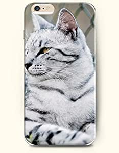 iPhone 6 Case 4.7 Inches Cat Looking like Tiger? - Hard Back Plastic Phone Cover SevenArc Authentic