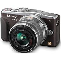 Panasonic Lumix DMC-GF6 Mirrorless Micro Four Thirds Digital Camera with 14-42mm f/3.5-5.6 II Lens (Brown) (International Model)